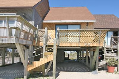 Street side view of Varia's Dream - 24 Topsail Villas - Varia's Dream - North Topsail Beach - rentals