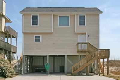 Street side of 3740 Island Drive - Island Drive 3740 - North Topsail Beach - rentals