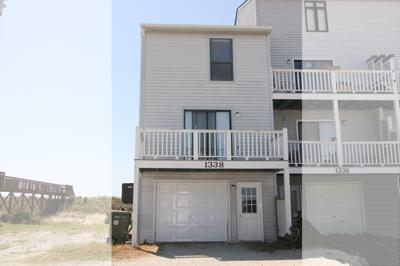 Street side view of 1338 New River Inlet Road - New River Inlet Rd. 1338 - North Topsail Beach - rentals