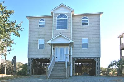 Street side of home - New River Inlet Rd. 2058 - North Topsail Beach - rentals