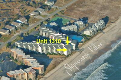 Aerial photo of Shipwatch complex locating 1310 - Shipwatch 1310 - Point Unit - North Topsail Beach - rentals