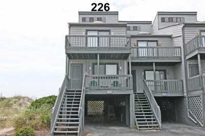 Street side view of Unit 226 w/ parking underneath - Shipwatch Townhomes II 226 - North Topsail Beach - rentals