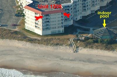Ocean side view of Unit 1508 St. Regis Resort - St. Regis 1508 - North Topsail Beach - rentals