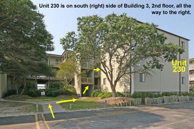 Location of Unit 230 in Building 3, Topsail Reef - Topsail Reef 230 - BLD 3 - North Topsail Beach - rentals