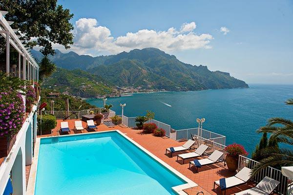 Perched over the Mediterranean Sea, halfway between Amalfi and Ravello. BRV CAR - Image 1 - Amalfi Coast - rentals