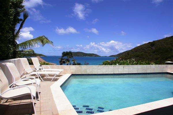 Private pool overlooking Leverick Bay and the North Sound. VG POK - Image 1 - Leverick Bay - rentals