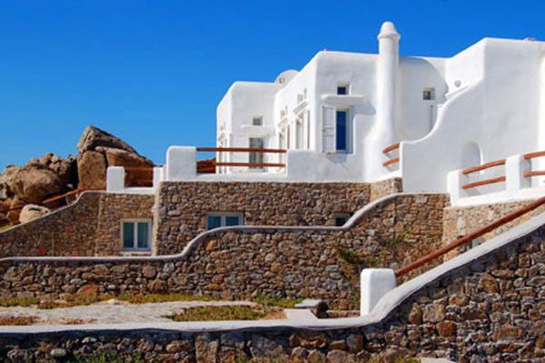 Part of a brand new villa complex perched over Super Paradise Beach. LIV SP2 - Image 1 - Mykonos - rentals