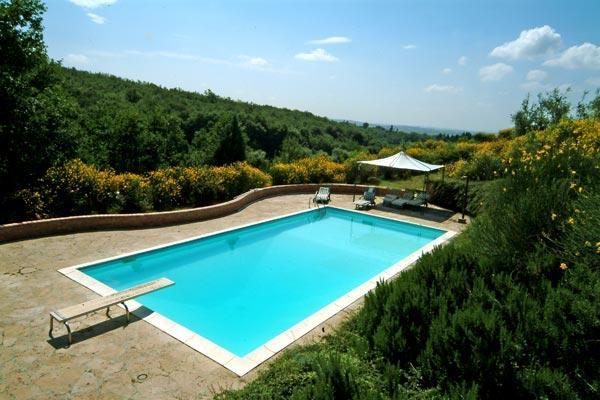 Hilltop 5 Bedroom Vacation House Close to Siena - Image 1 - Siena - rentals