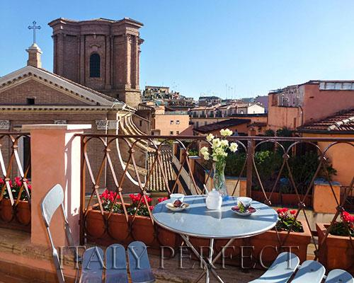 Perfect Penthouse-Best Spanish Steps-Toast Sunset from Terrace-Views-Angelina - Image 1 - Rome - rentals