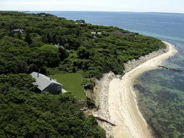 245 - WATERFRONT COTTAGE OVERLOOKING THE VINEYARD SOUND AND PRIVATE BEACH - Image 1 - West Tisbury - rentals