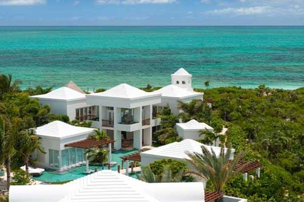 Striking architectural masterpiece on 2 landscaped acres of Grace Bay beachfront property. TNC TBZ - Image 1 - Grace Bay - rentals