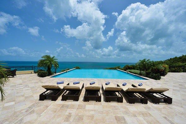 Neoclassical island retreat within Terres Basses- Caribbean Sea views. C BLA - Image 1 - Baie Rouge - rentals