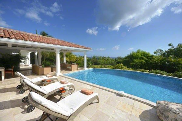 Sea views, large pool and spacious gazebo. C LUN - Image 1 - Terres Basses - rentals