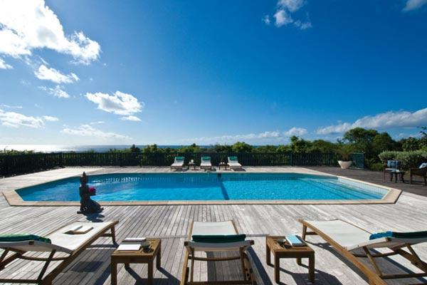 Spacious villa with Baie Longue Beach views and large pool and deck. C MED - Image 1 - Baie Longue - rentals