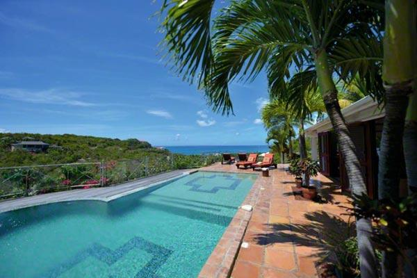 Take in the view over the pool to Anguilla and the Caribbean Sea. C PEA - Image 1 - Terres Basses - rentals