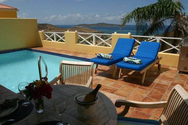 Relax on your private deck with pool and views. - A Perfect Getaway...Lime Tree - Teague Bay - rentals