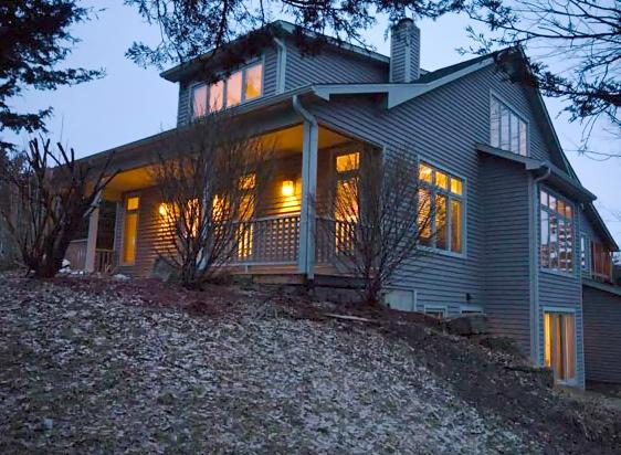 Early Morning View of Home from Clearing. - A Charming Galena Vacation Home Rental-4BR to 6BR - Galena - rentals
