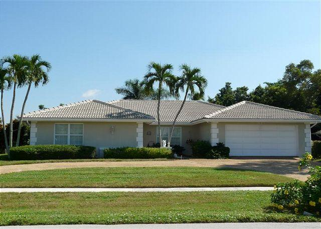 Front of Home - Secluded house with private lanai, two master suites, heated pool and hot tub - Marco Island - rentals
