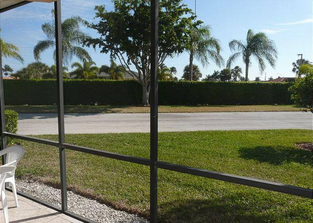 View on Lanai - Peaceful condo w/ two heated pools, walk to Resident's beach & restaurants - Marco Island - rentals