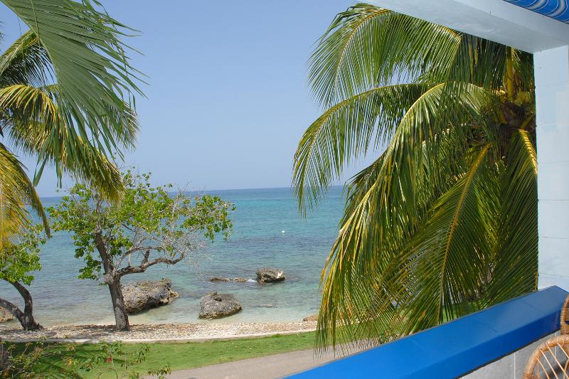 A view from the balcony - Ocean Front Studio Condo - Negril - rentals