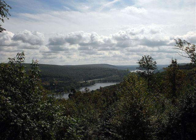 View from deck - Breathtaking ski in/ ski out home with amazing lake views! - McHenry - rentals