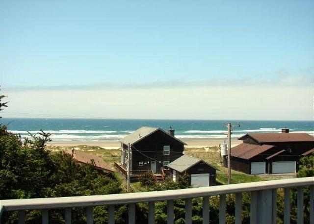 View from Deck - TRANQUIL TREASURE ~MCA#644~Enjoy Mountain and Ocean Views from this home. - Manzanita - rentals