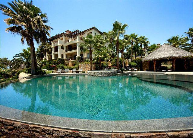Pool Area - Villa Lucero - 3BD/3.5BA Ocean View Condo Sleeps 8 Pool/Jacuzzi, in Esperanza - Cabo San Lucas - rentals