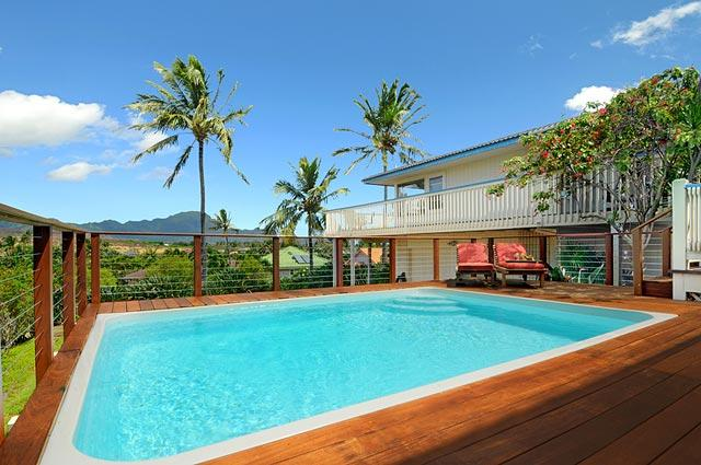 Private heated salt water pool (82F) - Bird of Paradise, private pool, walk to beaches, wonderful views - Poipu - rentals