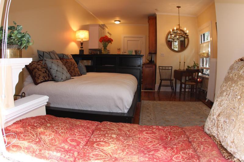 "Bed / Living - Beacon Hill -- ""the Nest"" sunny studio - Boston - rentals"