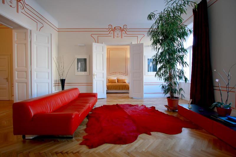 Living - Erzsebet Royal Suite, Jugendstil, 135 sqm, WiFi AC - Budapest - rentals