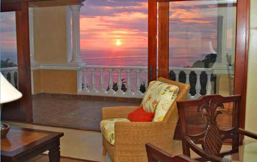 Beautiful sunset view from our terrace - Pacifico Colonial  2 or 3 Bedroom Luxury Condo - Manuel Antonio National Park - rentals