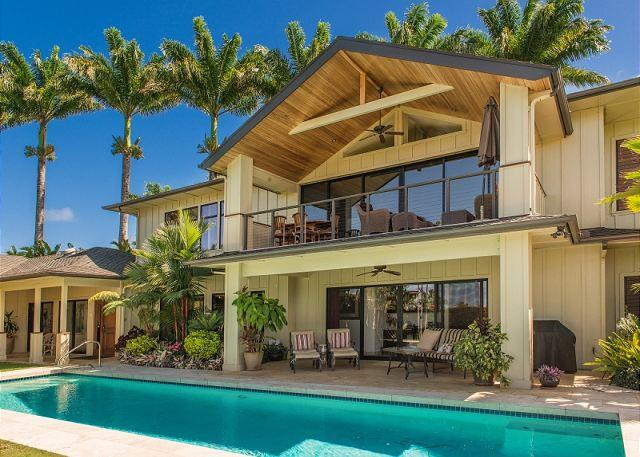 Luxurious Island Retreat with Pool!!  With beautiful Ocean and Mountain Views - Image 1 - Princeville - rentals