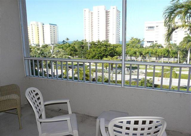 Patio and View - Beach Club 405 - Marco Island - rentals