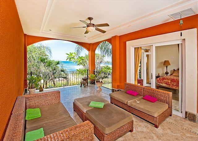 Terrace - Beautiful oceanview condo- custom kitchen, cable, shared pool, a/c - Tamarindo - rentals