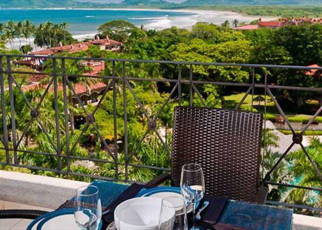 Open terrace for dining - Luxury 4BR ocean view condo. Great access to town and the beach - Tamarindo - rentals