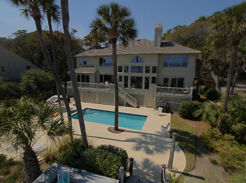 photo of house from ocean side - 10 Ketch-fabulous Oceanfront Home @ Palmetto Dunes - Hilton Head - rentals