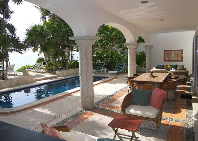 Los Primos is the best ocean front villa w/pool, in a secure gated community - Image 1 - Akumal - rentals