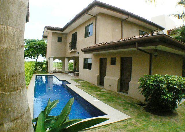 Lap pool and house - Oceanview home,Lap Pool, 50' Plasma TV,steps from most consistent break in CR - Playa Hermosa - rentals