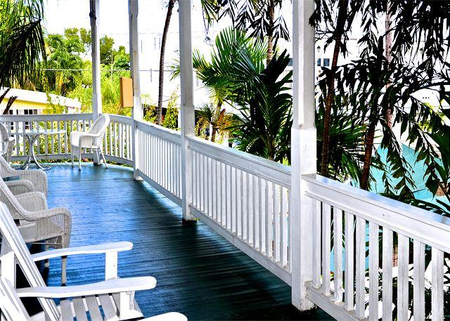 "Furnished 2nd floor Wraparound Porch - ""DUVAL CORNER""  - Cute Condo Just off Duval St! Full Kitchen & Great Porch! - Key West - rentals"