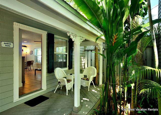 Immerse Yourself in Tropics While Lounging on the Deck. - Andros Suite - Key West - rentals