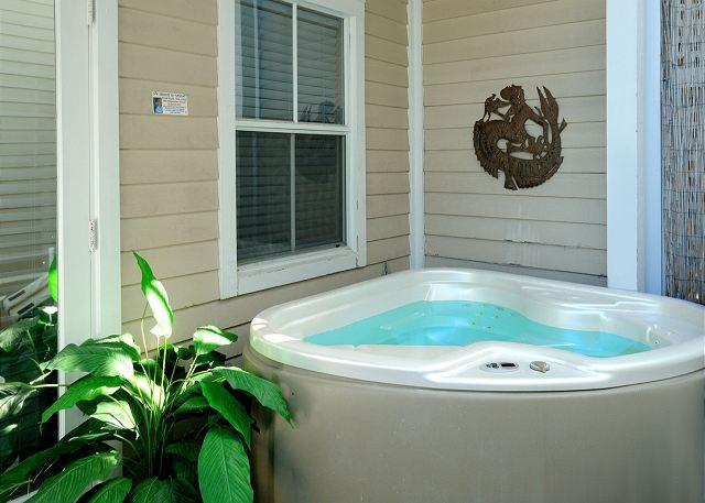 "Private Patio and Jacuzzi Area - ""DUVAL SQUARE PENTHOUSE"" - Gorgeous Condo on Duval St w/ Private Hot Tub - Key West - rentals"
