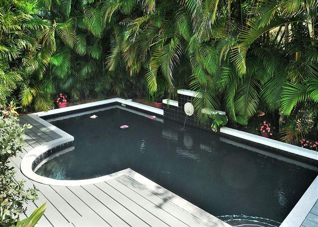 Private Heated Pool with Lush Tropical Foliage and Decking. - CASA SERENDIPITY - World Class Comfort in Lush, Tropical Paradise - Key West - rentals