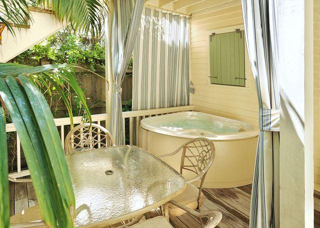 Your private hot tub awaits - HERON HIDEAWAY - Secluded 'Old Town' Condo w/ Private Hot Tub. Near Beach - Key West - rentals