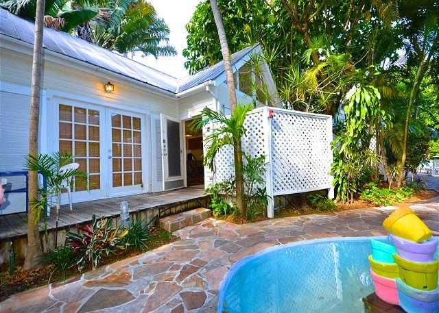 "Spacious Bungalow Suite With Pool Right Outside French Doors - ""VERDE SUITE"" - Quiet & Affordable 'Old Town' Cottage - Shared Pool - Key West - rentals"