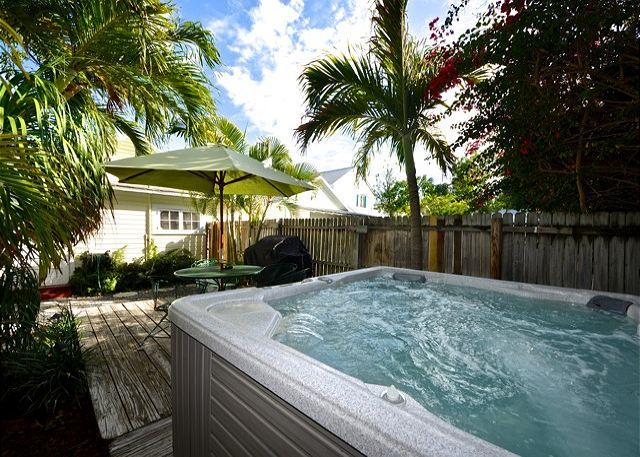 Your Private Jacuzzi and Furnished Deck Area Complete With A Grill For Your Outdoor Cooking/Dining Enjoyment - WINDWARD ISLE - Half Block To Duval St.- Private Hot Tub - Private Parking - Key West - rentals