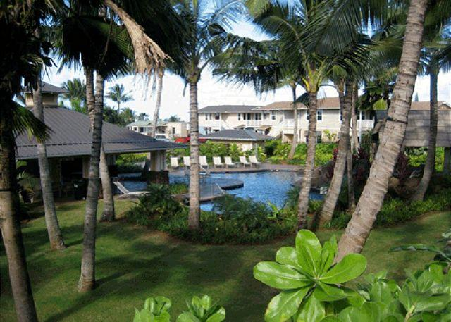 Nihilani Pool and Garden - Nihilani Tropical Villa SA $149/nt **Ground floor** - Princeville - rentals
