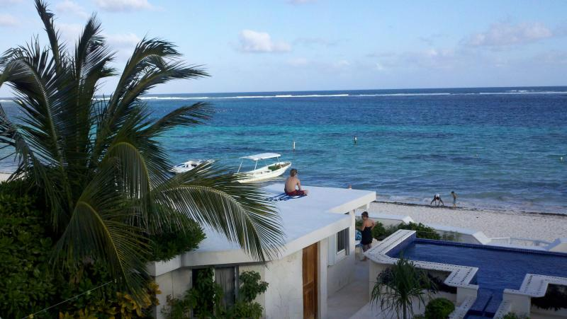 Our view of the Beach and the Caribbean - Casa Toucan 1 - Beautiful Beachfront near Square! - Puerto Morelos - rentals