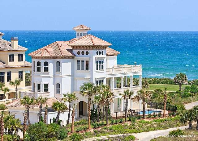 Enjoy the ocean front beach vacation of your dreams - Hammock Beach Mansion OceanFront 7 Bedrooms, Elevator, Pool - Palm Coast - rentals