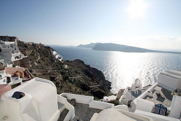 fotinos honeymoon house-view from window - honeymoon house in oia village with calera-sunset-sea view - Oia - rentals