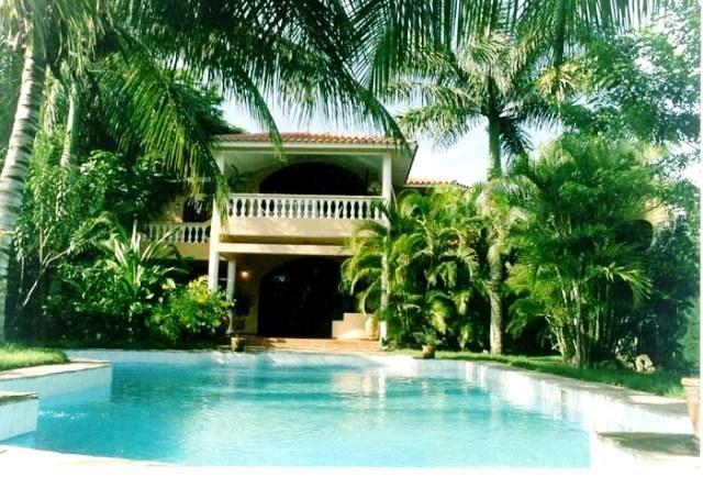 Villa from Pool - Outstanding Seaside Villa Playa Laguna, Cabarete - Cabarete - rentals